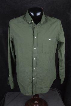 NWT Merona mens OD green LS shirt  FREE SHIPPING #Merona #ButtonFront