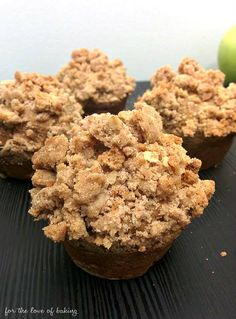 The most delicious Fall muffins! Apple Pie Cinnamon Streusel Muffins from For the Love of Baking - fluffy, moist, and spiced!