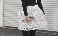 DIY Style | Outfit Details (Clear Clutch)