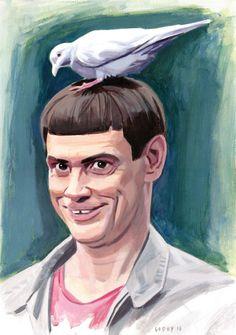 Commissioned portrait of Jim Carrey as Lloyd Christmas. Retrato por encargo de Jim Carrey como Lloyd Christmas. Encargos / Commissions: javiergodoytarraga@mail.com Godoy