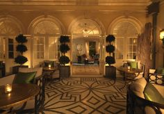 Limewood Hotel. Love the detailed floor