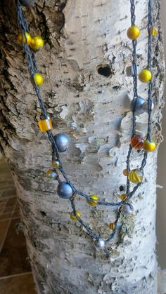 Silver Lemon Versatile crocheted necklace / bracelet by FleasKnees, $15.00
