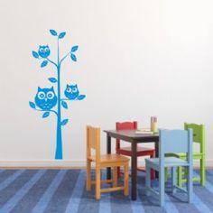 Owls in a tree - Kids / Nursery room wall art sticker - Nursery Room, Kids Bedroom, Owl Tree, Owls, Stickers, Wall Art, Color, Home Decor, Homemade Home Decor