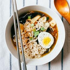 Hot and Sour Soup with Ramen