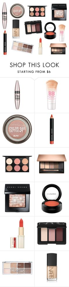 """This months beauty wants, needs and faves"" by rojoubdalia on Polyvore featuring Maybelline, Bobbi Brown Cosmetics, MAC Cosmetics, L'Oréal Paris and NARS Cosmetics"
