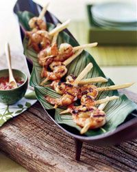 Vietnamese-Style Jumbo Shrimp on Sugarcane - I had this once at a Vietnamese restaurant and loved it.