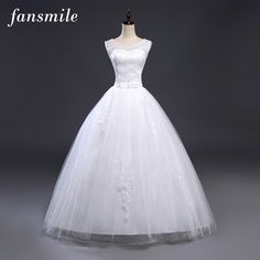 b023d7096f7e0 Fansmile New Arrival Simple Lace Up Ball Wedding Dresses 2017 Plus Size Bridal  Dress Wedding Gowns