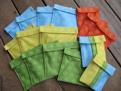 Inspired by Fabric: Playing with PUL--lunch bags