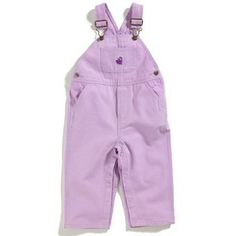 Carhartt Kids Girl`s Toddler Washed Canvas Bib Overall $29.99