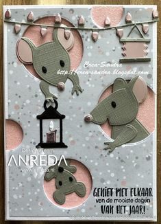 Crea-Sandra: Anreda DT - Christmas with Sandra - Day 12 - Enjoy together - Fancy Fold Cards, Folded Cards, 3d Cards, Xmas Cards, Company Christmas Cards, Marianne Design Cards, Rena, Up Book, Animal Cards