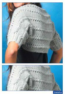 Bolero de tricô com fio bruma - Receita e gráfico - Toda Moderna