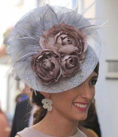 Large Gris Bandeau /& Pince Chapeau Bibi Mariages ladiesday Race Royal Ascot