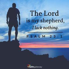 Meditation helps focus on God; Psalm 23:1