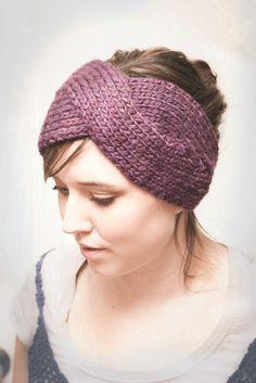 Knit headband pattern.