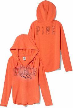 Victoria's Secret Orange Denver Broncos Tunic Hoodie