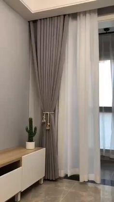 Curtain Designs For Bedroom, Bedroom Bed Design, Bedroom Furniture Design, Home Room Design, Living Room Designs, Interior Design Curtains, Living Room Decor Curtains, Home Curtains, Custom Curtains