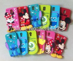 Cheap silicone case nokia, Buy Quality silicon muffin cases directly from China silicone case tablet Suppliers: 3D Cartoon Animal Case for Samsung Galaxy S5 i9600Mickey Minnie Mouse Monsters Sulley Stitch Bear Chip Silicone