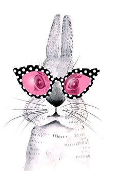 """""""Hare! Hare! Don't  you dare ~ make fun of my sunglasses . . ."""" - super - cute!"""