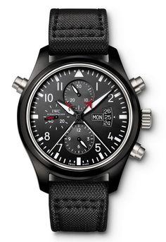 Men watches: IWC Pilot's Watch Double Chronograph TOP GUN Edition