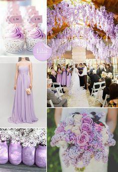 spring/summer wedding ideas 2015 - lilac bridesmaid dress style and wedding color scheme ideas