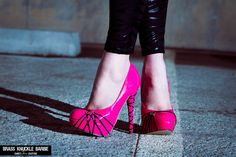 Brass Knuckle Barbie Pink High Heel Shoe by SweetSinCouture, $45.00