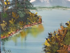 Close-up of the water way - the reflections are too muddy; but I tried to hold the shore line with white highlights...Bob Ross techniques work great when they work - it takes so little effort if you listen to the training