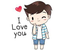 Boobib lovely couple – LINE stickers Love Cartoon Couple, Cute Cartoon Pictures, Anime Love Couple, Cartoon Pics, Cute Cartoon Wallpapers, Cute Anime Couples, Cute Couple Drawings, Cute Love Couple, Cute Love Gif