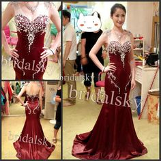 Wholesale Prom Gowns - Buy Gorgeous V Neck Cap Sleeves Crystals Mermaid Court Train Prom Gowns Evening Dresses K-669, $179.0 | DHgate