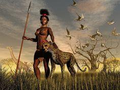 African Female Warriors | ... afrikalı kadın ve hayvanlar, 3d warrior african women and animal