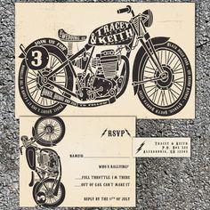 Motorcycle Wedding Invitations  Biker Bride   by InvitingMoments, $1.60 Rally Wedding