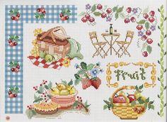 Cross Stitch Fruit, Cross Stitch Kitchen, Cross Stitch Love, Cross Stitch Needles, Cross Stitch Cards, Cross Stitch Borders, Cross Stitch Flowers, Cross Stitch Patterns, Quilt Stitching