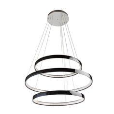 Voici un lustre design métallique à led. Ses 3 anneaux donnent une vraie impression de lévitation dans la pièce: ce luminaire suspendu ne vous laissera pas indifférent !