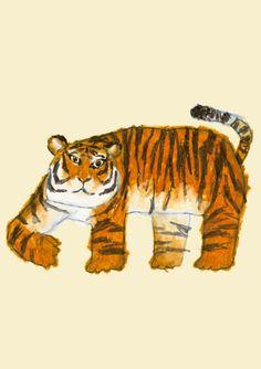 Tiger by Japanese illustrator - Yusuke Yonezu