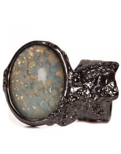 YSL Blue Glass Ring Latest Design Trends, Druzy Ring, Silver Plate, Yves Saint Laurent, Light Blue, Glass Ring, Magpie, Stone, Ysl
