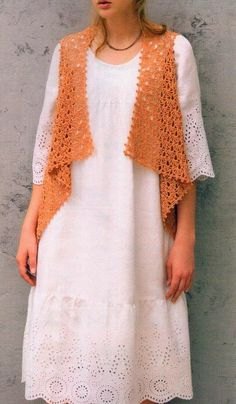 Simple And Easy Lace Cardigan    The Pattern of this Vest + 25 Beautiful Designs with Clear Patterns, are in:                More …