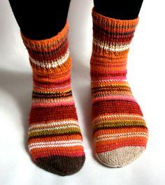 Hand knit socks rainbow  for women by Kampsun on Etsy, $39.00