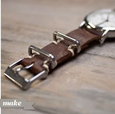 leather NATO watch strap instructions by wood and faulk