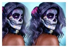 Nicole guerriero Halloween look ~~~ electric skeleton ❤️💀 by wolfie1grin on Polyvore featuring polyvore and art