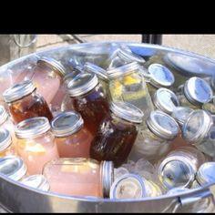 Premade drinks in mason jars!