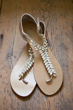 Jeweled Giuseppe Zanotti sandals The Wedding Scoop Spotlight: Bridal Shoes - Part 1