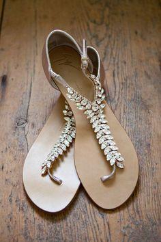 Jeweled Giuseppe Zanotti sandals | The Wedding Scoop Spotlight: Bridal Shoes - Part 1