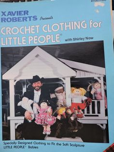 Crochet Patterns Clothing for Dolls Vintage Xavier Roberts 7545 Babies Boots Shoes Ruffled Dress Hats Overalls Cabbage Patch Dolls Crochet Doll Clothes, Doll Clothes Patterns, Doll Patterns, Clothing Patterns, Crochet Patterns, Vintage Patterns, Baby Bunting Bag, Cabbage Patch Babies, Xavier Roberts