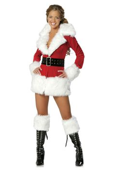 Christmas Carnival Mrs Santa Claus Cosplay Costumes For Women XMAS Costume Sexy Adult Fancy Red Party Dress