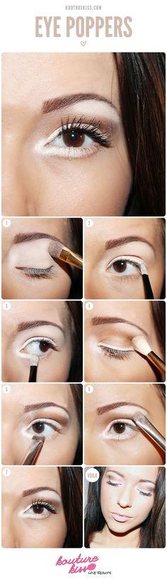 white brown makeup #tutorial #evatornadoblog