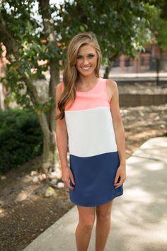 Magnolia Boutique Indianapolis - Poppy Colorblock Tank Dress - Coral, $39.00 (http://www.indiefashionboutique.com/poppy-colorblock-tank-dress-coral/)