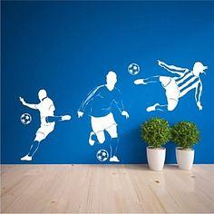 muurstickers muur stickers, hedendaagse voetbal pvc muurstickers - EUR € 29.99