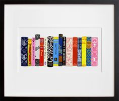 She may not have all the classics on her bookcase, but she can have them on her wall thanks to Jane Mount's creative Ideal Bookshelf 353: English Lit ($60-$240) print.