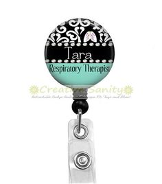 Persoanlized Retractable ID Badge Holder by CreativeSanity on Etsy