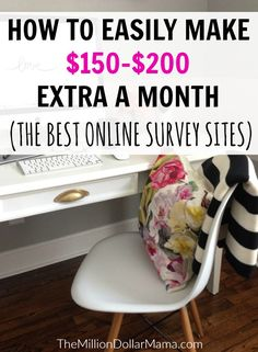 An easy way to make extra money every month - the best online survey sites!