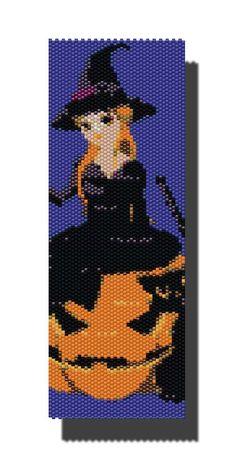 Halloween With Pumpkin PEYOTE Pattern by DragonsLairPatterns, £3.95
